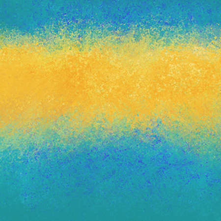 sponged: abstract gold stripe on blue background. Blank typography or title copyspace for text or announcement.