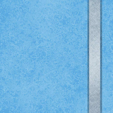 sponged: sky blue background with silver gray shiny ribbon design