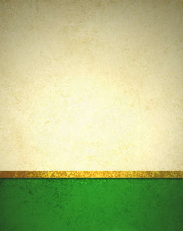 abstract gold background with dark green footer and gold ribbon trim border, beautiful template background layout, luxury elegant gold paper with vintage grunge background texture design