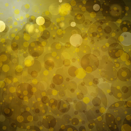 gold background with white bokeh Christmas lights sparkling in the sky