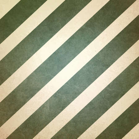 angled: vintage green and white background striped pattern, angled diagonal lines design element Stock Photo
