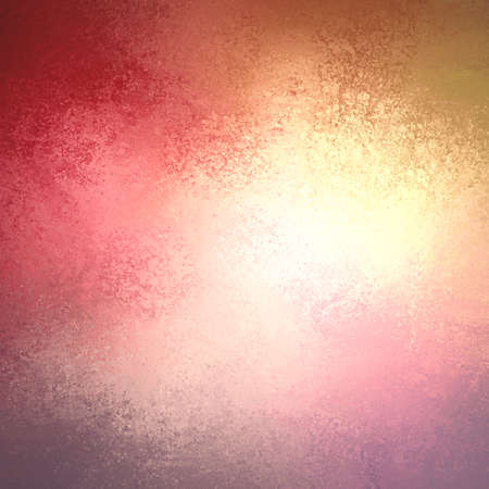 red pink: warm autumn background in red pink gold yellow and orange with white center and vintage grunge background texture, colorful background design Stock Photo