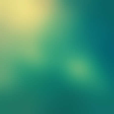 blue and green: blurred sky blue background with yellowed bokeh lights and filter effect