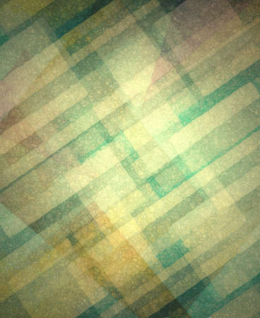 in layers: diagonal gold rectangles layers on teal blue background Stock Photo