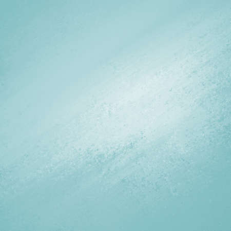 blue background texture: old pastel blue paper background, white vintage center with sky blue edges or grunge border design, messy aged distressed texture and stains Stock Photo