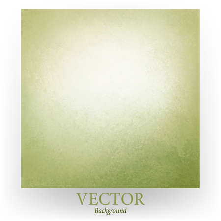 vintage texture: pastel green vector background with white center and vintage texture