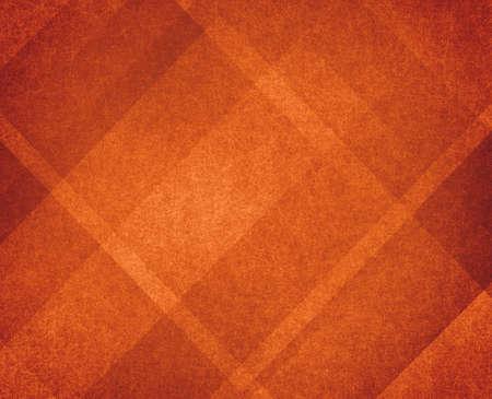 naranja color: dise�o de fondo naranja quemado oto�o con l�neas y �ngulos Foto de archivo