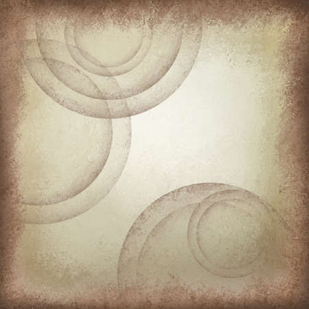 faded: faded light brown beige background with abstract circles shapes with vintage grunge texture design