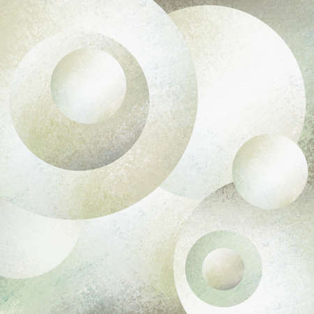 hue: abstract white background circles layered in random pattern for classy modern art design, contemporary fresh fun style background in white with blue green hue