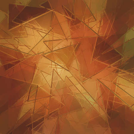 shards: glass shards, abstract orange and gold background with glass texture Stock Photo