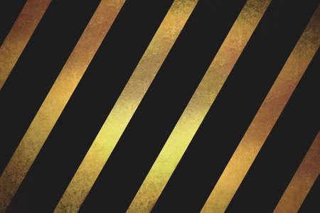 ruban noir: ruban texturé or brillant incliné en diagonale motif rayé sur fond noir