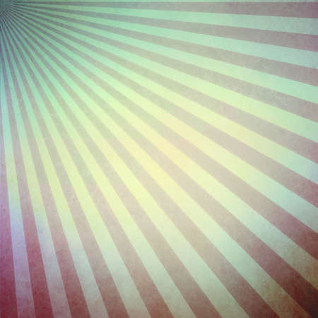 yellowed: faded vintage background in yellowed blue and red striped retro background with darker border and sunburst radial pattern
