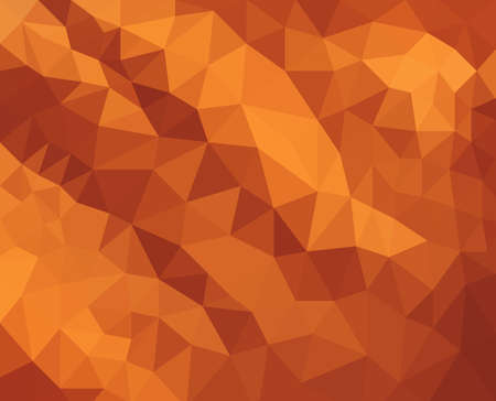 facets: orange background design, triangle shapes in mosaic pattern of diamond facets, low poly triangular style background design texture