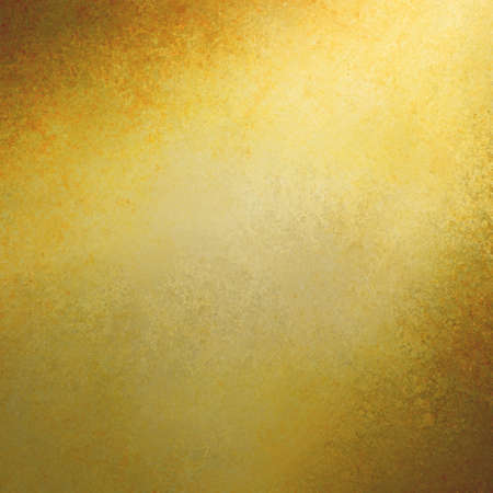 color background: gold background spotlight design with brown corners and grunge textured borders, elegant luxurious gold color background design with copyspace for text title or image, rich luxury gold background