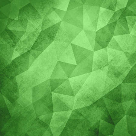green texture: green background. Low poly green Christmas background. Triangle shapes in mosaic pattern of diamond facets, low poly triangular style background design texture