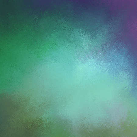 blotchy: sponged textured background in blue purple and green colors Stock Photo