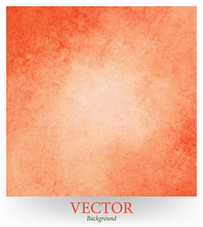 edges: abstract orange vector background design, border has dark orange color edges of rough distressed vintage grunge texture, pale soft opaque white center