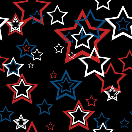 july 4th: Seamless star wallpaper vector. July 4th background.