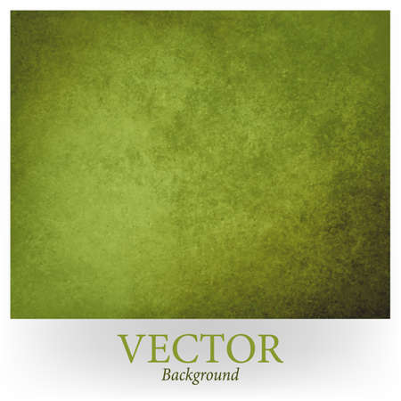 Abstract green vector background design. Texture is vintage old and distressed with dark green and black grunge borders. Stained messy backdrop template.