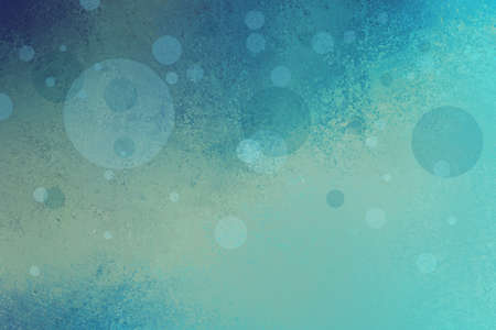 sponged: cool blue background with yellow lighting and soft floating bubbles or circles in random pattern, abstract blue background design for graphic art projects and website, teal blue color