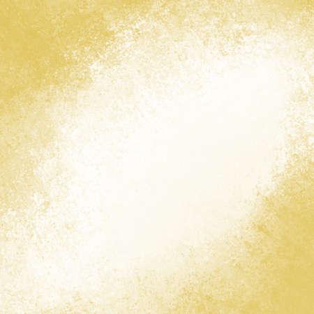 Texture du papier ancien. Fond blanc vintage avec bordure grunge en or. Banque d'images - 46532287