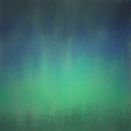 artsy: blue and green background with streaked paint brush strokes in artsy design, teal blue background with soft green center