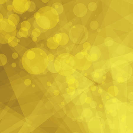 abstract geometric yellow background, bright shades of yellow gold, contemporary or modern art style background with floating bokeh lights over triangle shapes and stripes