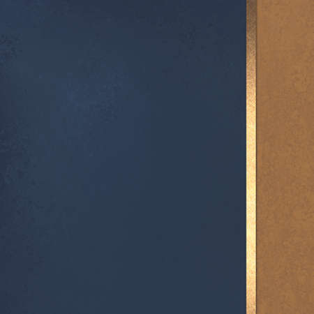 dark blue background with brown sidebar and gold ribbon stripe, formal elegant background design layout