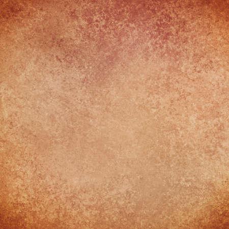 cobre: warm copper orange brown background with grunge vintage texture Foto de archivo