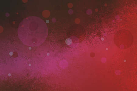 spot the difference: abstract pink and red bokeh background with vintage texture and floating bubbles or blurred white shining lights