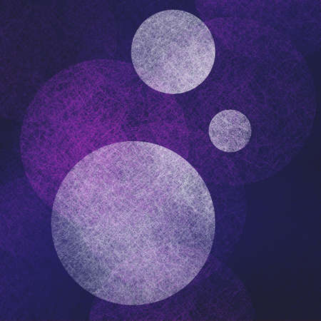 artsy: abstract modern background purple color with white parchment balls floating in random bokeh pattern, artsy contemporary art with modern design style, dark border and bright center