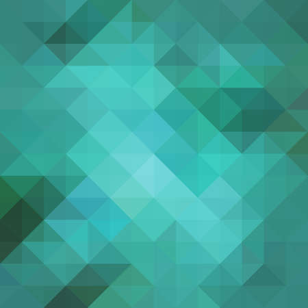 abstract blue low poly background with facets, teal blue triangle and square shapes in geometric modern pattern design, trendy cool 3d pattern design with gloss or shiny stained glass mosaic style