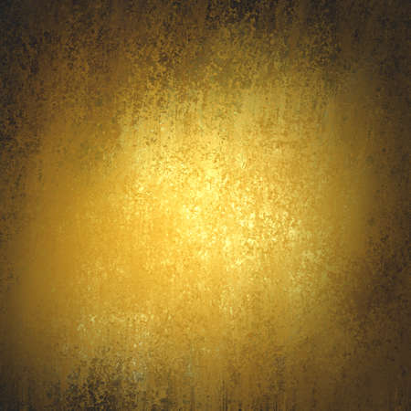flecks: vintage gold background texture with dark black vignette border, old luxury background with shiny flecks of gold paint, yellow background