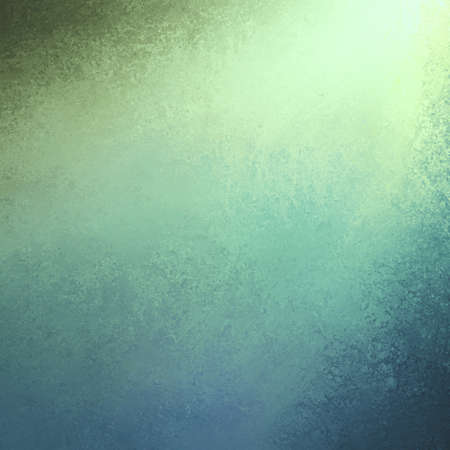 teal background: spotlight background in blue green colors with distressed grunge border texture, cool teal blue background design with sunlight streaming in from corner, abstract blue green background design
