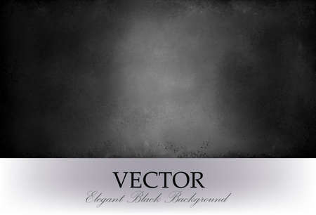 vector background: abstract black background vector with spotlight center and distressed texture. black chalkboard,
