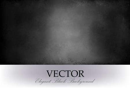 astratto sfondo nero vettoriale con riflettore centrale e la consistenza in difficoltà. lavagna nera, Vettoriali