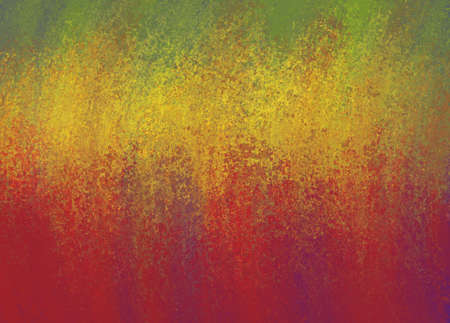 sponged: colorful green gold and red grunge background design