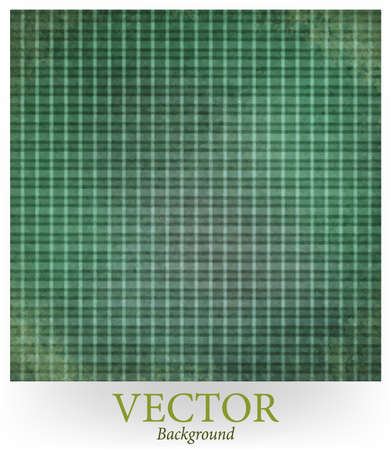 christmas plaid: faded vintage vector. green gray plaid checkered background, shabby chic striped line design element on distressed texture. Christmas background colors.