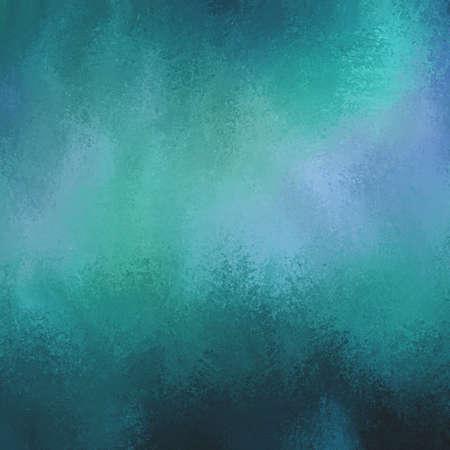 astratto nelle tonalità verde e blu. sfondo di lusso. sfondo blu verde acqua scuro con struttura in difficoltà spugnato. Archivio Fotografico