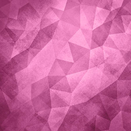 facets: pink background. Low poly pink background. Triangle shapes in mosaic pattern of diamond facets, low poly triangular style background design texture