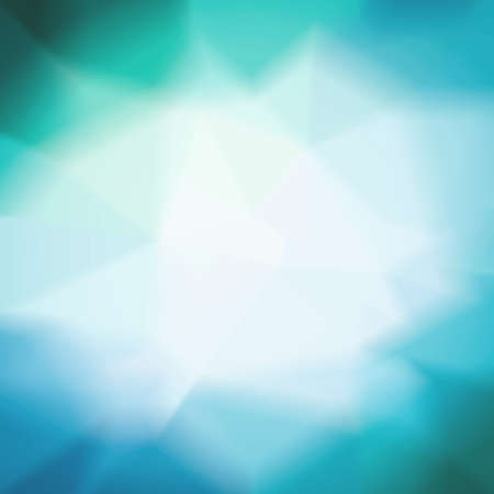 teal background: blurred blue and white triangle background pattern