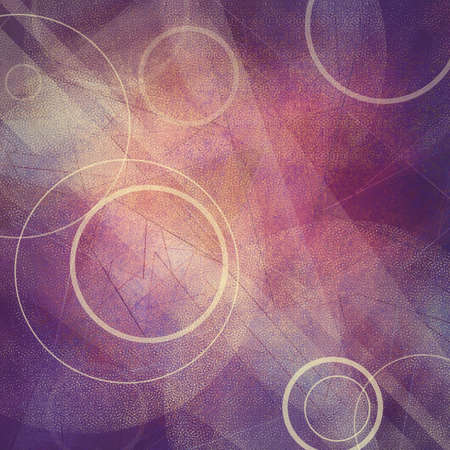 fun background: abstract purple background design, angles and circle shapes layered in geometric abstract pattern