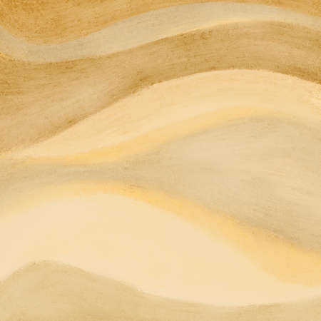 beige: wavy streaks of beige brown and yellow paint in abstract pattern, tan or brown sand color background design with fun waves or curved stripes or lines