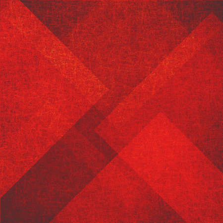 diamond shaped: abstract red background, lines angles and diamond shaped pattern in vintage grunge texture design, faded worn grunge stains, old red material Stock Photo