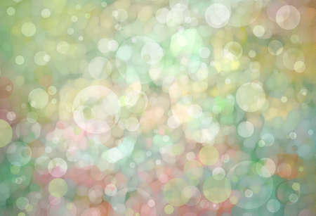 Beautiful light green bokeh background with shimmering pink gold yellow colors and white lights Festive party background. Fantasy night or magical glitter background sparkles