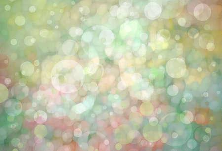 atmosfera: bokeh de fondo hermosa luz verde con los colores amarillo oro rosa y brillantes luces blancas del fondo del partido festivo. Fantasía noche o mágicos destellos fondo del brillo