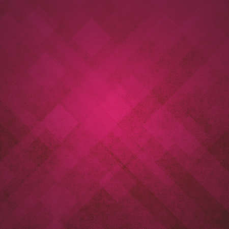 pattern background: red pink geometric background abstract shapes design, angled line design elements or stripes, squares or triangle abstract modern art design backdrop with distressed vintage texture Stock Photo