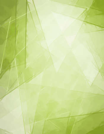 triangle shaped: abstract green glass background design with white triangle shaped design elements and line angles in cool pattern