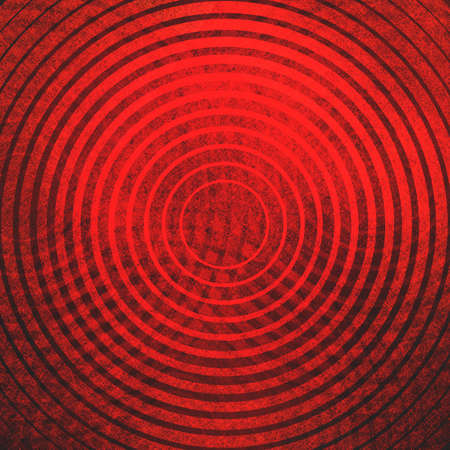 toro: formas de destino rojo y negro círculos resumen de antecedentes en el diseño de la línea abstracta de rayas con textura de la vendimia Foto de archivo