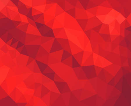 facets: Red background. Low poly background. Triangle shapes in mosaic pattern of diamond facets, low poly triangular style background design texture Stock Photo